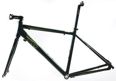 EVO Vantage 5.0 58cm X-Large Aluminum Road Bike Frameset Fork + Extras Black NEW