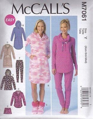 McCALL'S SEWING PATTERN MISSES' NIGHT DRESSES TOPS SHORTS  XSM - XXL  M7061