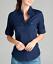 NEW-Plus-Size-Cotton-Button-Front-Shirt-Blouse-3-4-Sleeve-L-XL-1X-2X-3X thumbnail 4