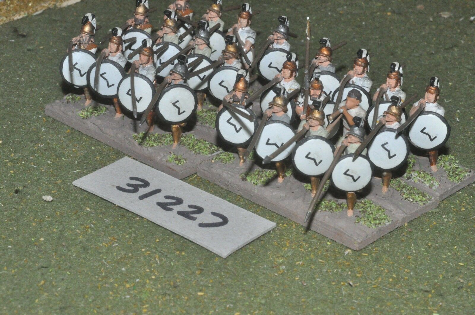 25mm classical   greek - hoplites 24 figures - inf (31227)