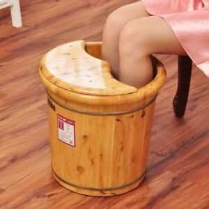 Tall-Foot-basin-wooden-bucket-foot-bath-amp-massage-with-cover-amp-massage
