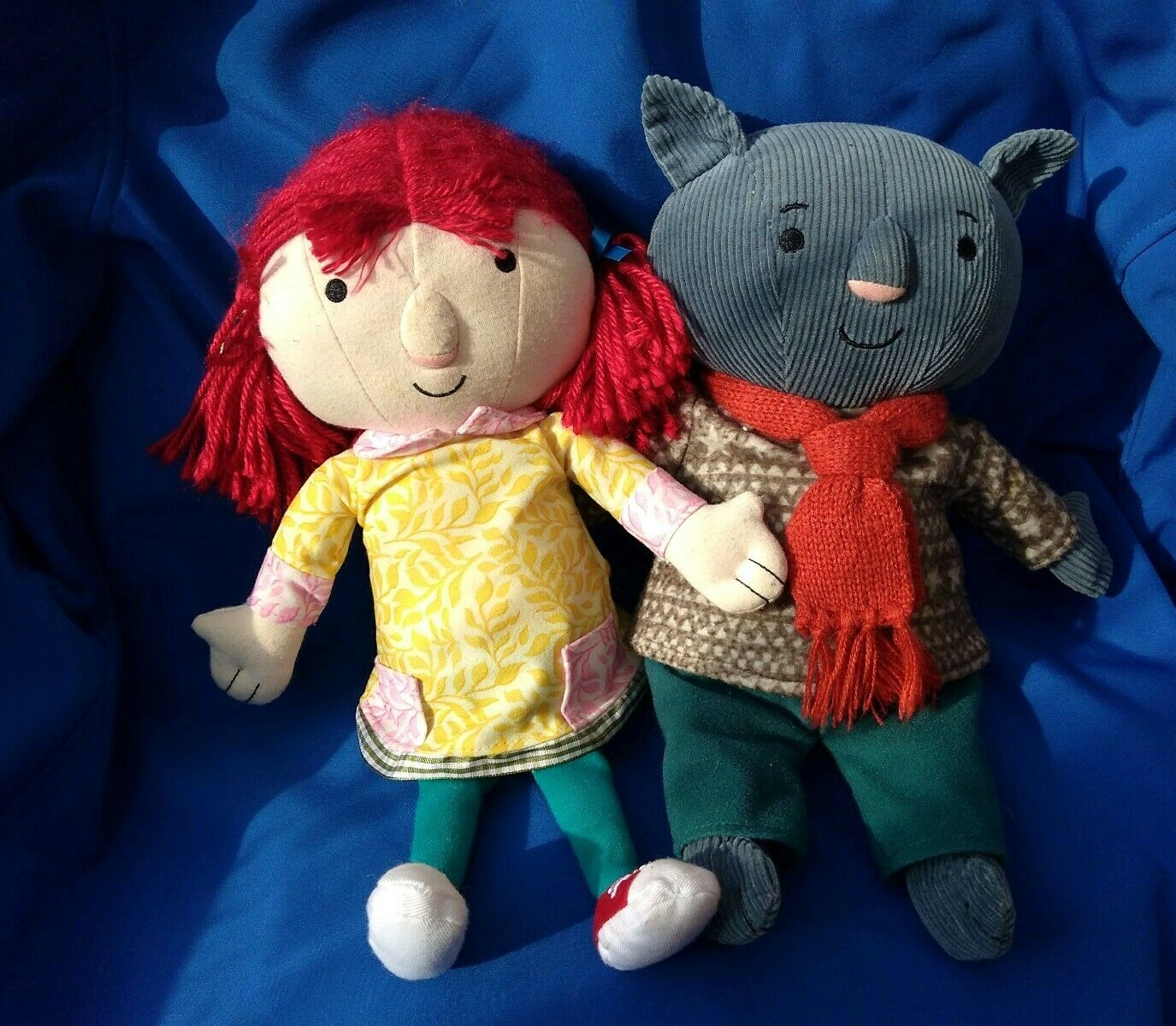 CEBEEBIES THE ADVENTURES OF ABNEY AND TEAL SOFT PLUSH FIGURES