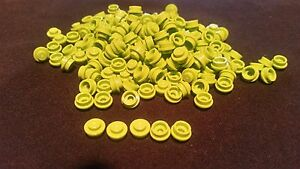LEGO 100 NEW LIME GREEN PLATES 2 X 4 DOT PLATES PIECES PARTS