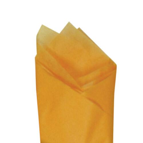 "Quality Premium Grade Color Tissue Paper 24 Sheets 20/"" x 30/"" Goldenrod Orange"