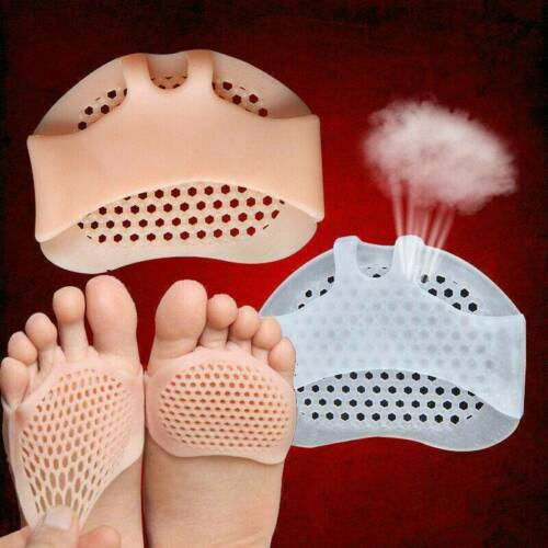 2x Soft Silicone Insoles Forefoot Pads Honeycomb Versatile Reusable Pain Relief