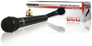 Microfono con Cavo 6.35 mm -72 dB Nero konig KN-MIC25 - Italia - Microfono con Cavo 6.35 mm -72 dB Nero konig KN-MIC25 - Italia