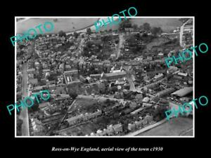 OLD-LARGE-HISTORIC-PHOTO-OF-ROSS-ON-WYE-ENGLAND-AERIAL-VIEW-OF-THE-TOWN-c1930-1