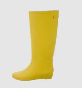 Loeffler Randall Rubber Matilde Rain Boots Women's Size 7 Yellow