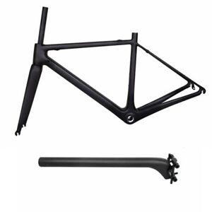 Superlight Carbon Fiber Road Bicycle Frame 700x25C Race Bike Frameset UD Matt