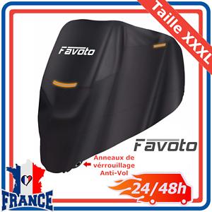 Housse-Bache-de-Moto-Couverture-Protection-Etanche-Anti-UV-Vol-Pluie-Noir-XXXL