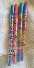 Rare-Disney Mickey Minnie Mouse LiloStitch Chip'n Dale Friends Postcard Pen Pink