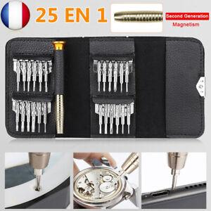 Portab Tournevis Précision Mini 25 en 1 Kit de Outils de Réparation pour iphone