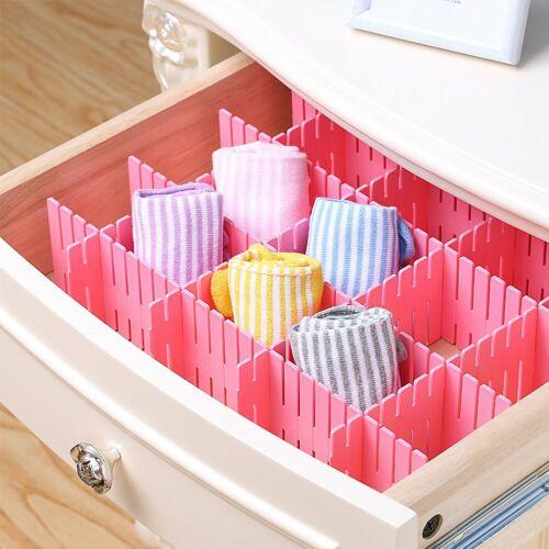 Creative DIY Drawer Divider Household Storage Organizer Wardrobe Adjustable Draw