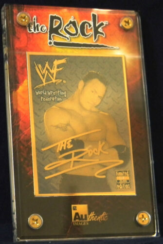 Authentic Images 24K Gold Collectible Card The Rock WWF
