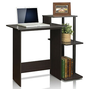 Computer Laptop Desk Printer Station Shelf Small Office Work Home Study Table
