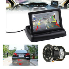 4.3'' TFT LCD Coche Monitor + 170° Marcha Atrás Cámara Trasera Impermeable DVD