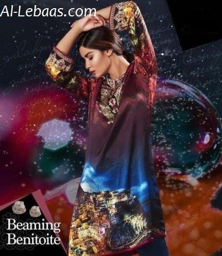 Digital Print Silk Kurti Tunic Scenic