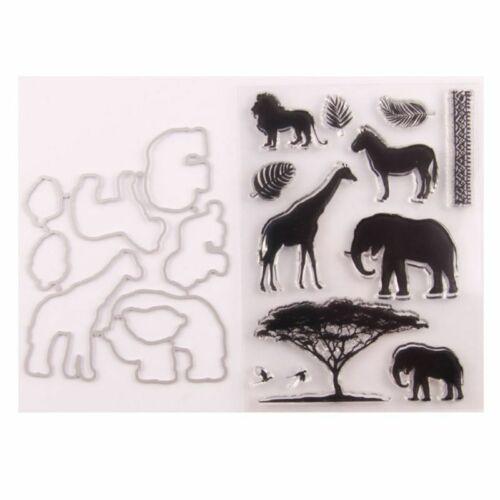 Animals Clear Stamp Cutting Dies Stencil DIY Scrapbooking Embossing Photo Album