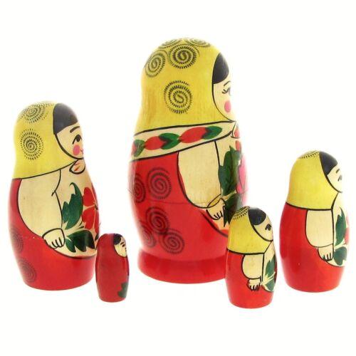 5 Poupées russes H11 Matriochka peint main Russian Nested Doll Gigognes Russie