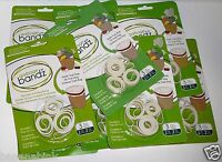 Lot Garbage Bandz Gripper Reusable Trash Bag Can Liner Rubber Bands Large Small