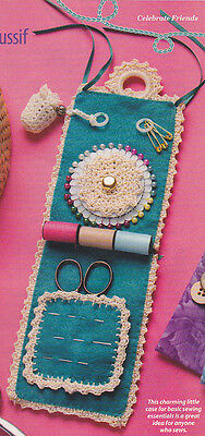 Crochet Pattern ~ CHARMING LITTLE HANGING SEWING CASE ~ Instructions