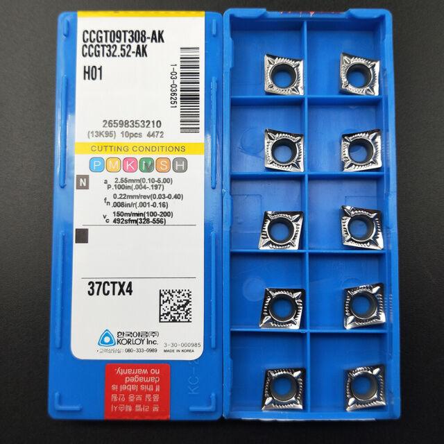 CCGT32.52-AK H01  Used for Aluminum  Carbide Inserts 10pcs  CCGT09T308-AK H01
