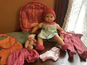 2012-American-girl-bitty-baby-doll-W-Clothes-Accessories-Backpack-Lot