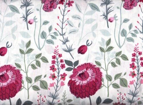 Dear Stella Flirt 342 Floral Multi White 100/% cotton Fabric by the yard