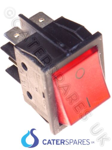16A RED NEON ROCKER SWITCH ON OFF DOUBLE POLE 22MM X 31 4 X TERMINAL 230V