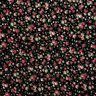 RED PINK PATCHWORK CHECK Polycotton Fabric 35 cm x 112 cm REMNANT OFFCUT