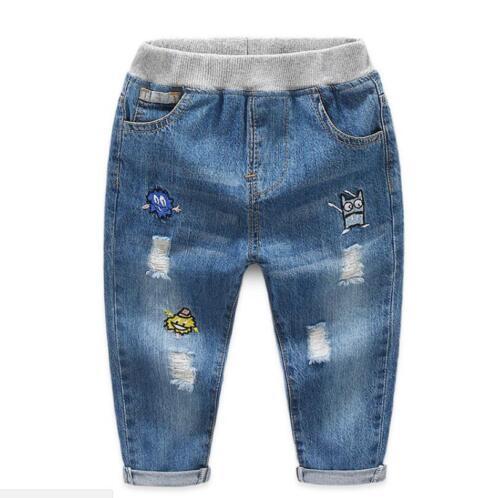 Fashion Boys baby boy kids warm Jeans for Spring Fall Children/'s Denim Trousers