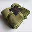 Pure color pineapple grid blanket coral fleece blanket travel mesh small blanket