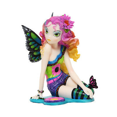 MYKA JELINA RAINBOW CRYSTAL GOTHIC PUNK BUTTERFLY FAIRY STATUE FIGURINE.LOVELY