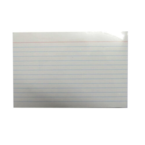 """Size 6/"""" x 4/"""" Index Record Cards Pack of 100 Ruled White"""