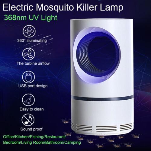 Electric Mosquito Killer UV Night Light USB Insect Killer Zapper Repellent Lamp#