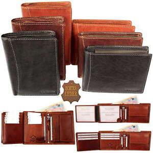 NEU-Herren-Geldboerse-Geldbeutel-Portemonnaie-echt-Leder-Hochformat-Querformat