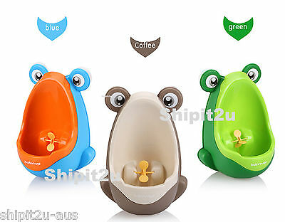 Toilet Training Potty Aid with Wee Pee Targot Aim Boys Frog Toddler Urinal