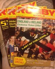 Joblot Of 3 RUGBY WORLD & POST JAN-MARCH 1986