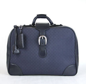 d0c0363754b6 $2455 NEW Authentic Gucci Duffle Carry On Travel Bag Blue Diamante ...