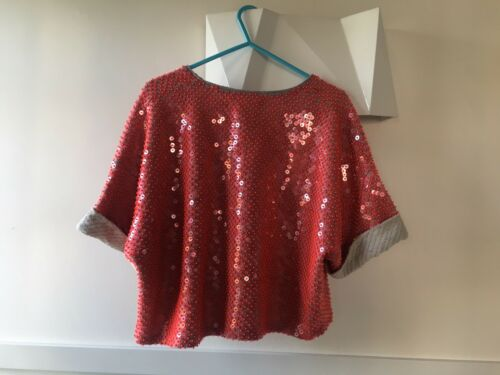 Top Religion 10 Coral From Size 8 uk Sequin Xs C5xwU1qP