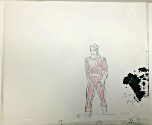Fantastic Four Original Production Animation Sketch Drawing