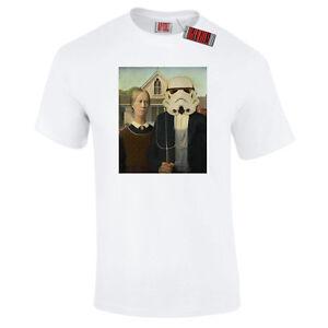 American-Gothic-Gros-Holz-Spoof-Star-Sturmtruppler-Kriege-Premium-T-Shirt