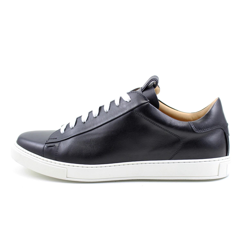 b3317f23 Para hombres zapatos negro cuero hecho a mano italiano GIORGIO Rea 7729NE  tenis Moda nbgtli10169-Zapatos de vestir