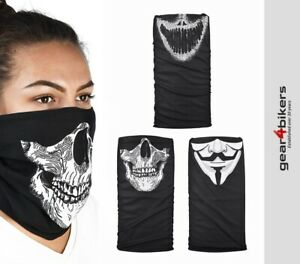 Oxford Comfy Masks Neck Tube x 3 pack Motorcycle Scarf Face Mask Skull Scary