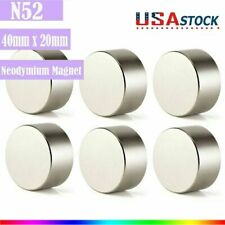 N52 Large Neodymium Rare Earth Magnet Big Super Strong Huge Size 40mm20mm Lot