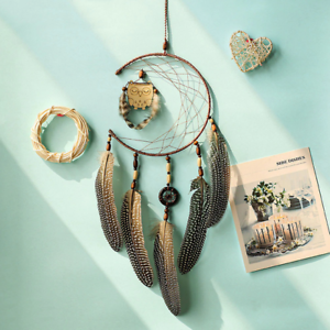 Dream-Catcher-With-Feathers-Wooden-Owl-Wall-Hanging-Decor-Ornament-Handmade