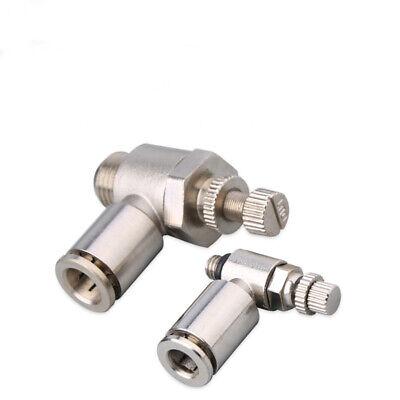 Pneumatic Flow Speed Valve,Set Push in Speed Controller 6mm Pneumatic Air Flow Control Valve Connector 10 pcs