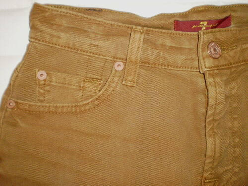Seven 7 For All Mankind Cut Off Shorts Womens Jeans Size 24 25 NEW $129 Cognac