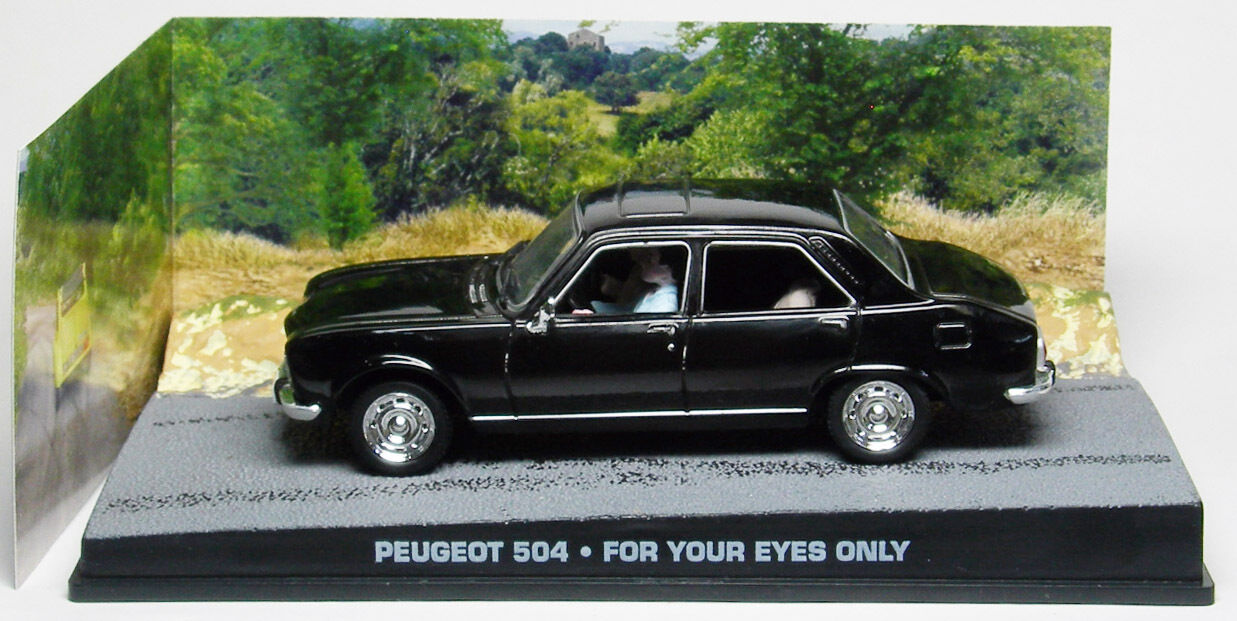 PEUGEOT 504 JAMES BOND 007 FOR YOUR EYES ONLY 1 43 UNIVERSAL HOBBIES DIORAMA