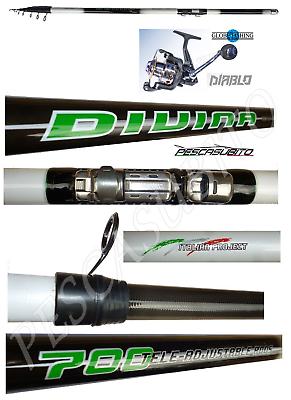 Intellective Kit Canna Teleregolabile 6m Carbonio Divina Fishing Sporting Goods Mulinello Diablo Trota Pesca Tp